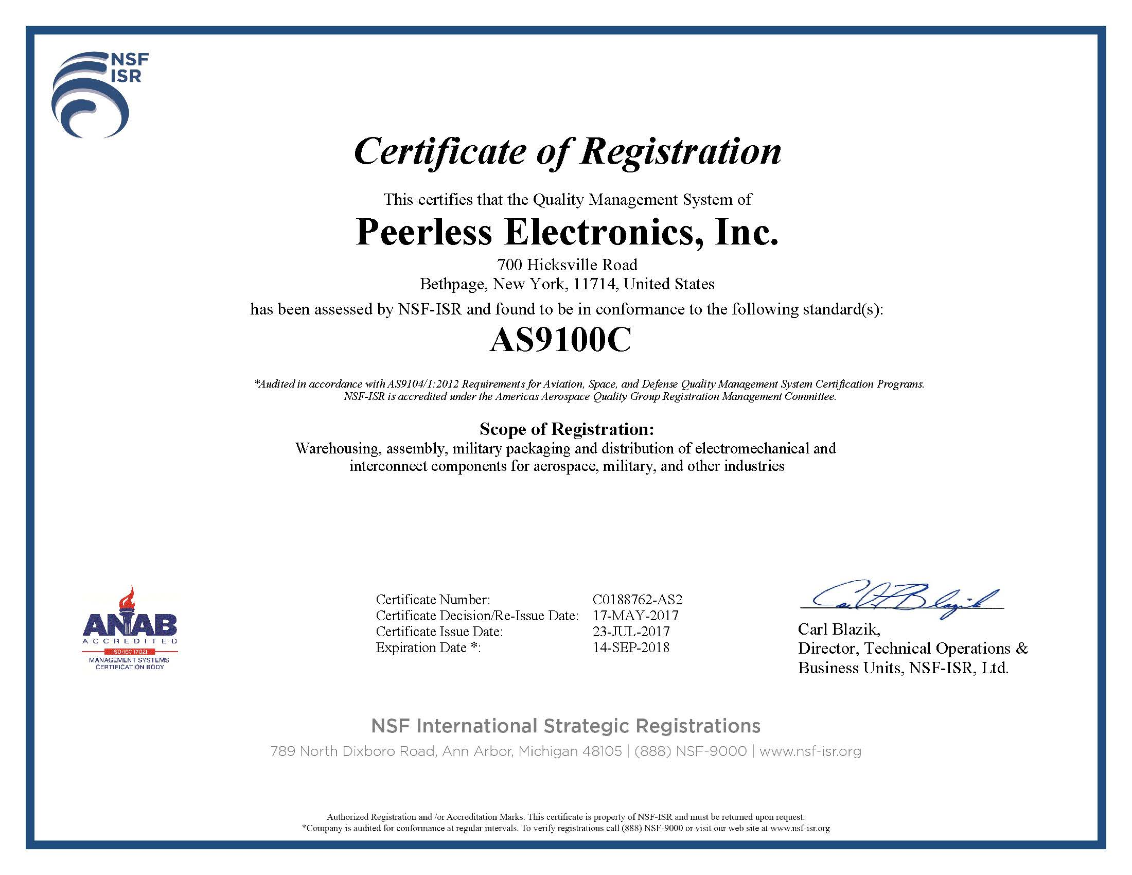 Tax certificate upload peerless electronics inc we are certified to as9100c and iso9001 1betcityfo Image collections